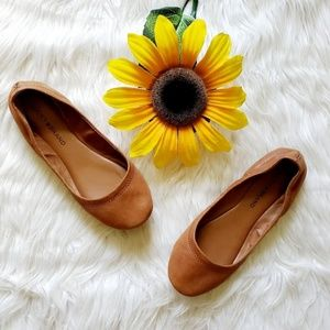 Lucky Brand Emmie Leather Brown Ballerina Flats